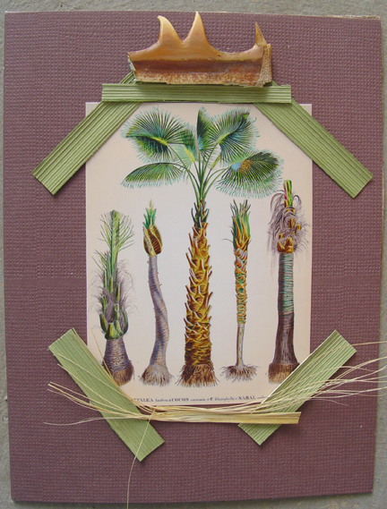 Palms with Thorn mixed media Note Card