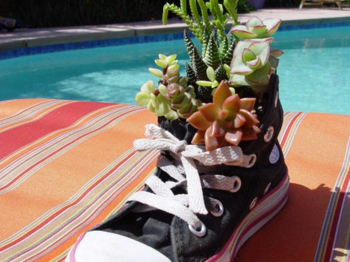 Recycle Child's Shoe for Almost Free Mother's Day Gift